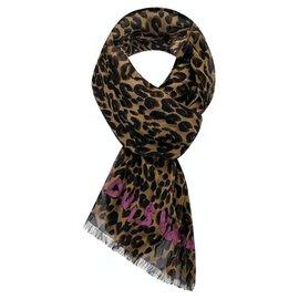 Louis Vuitton-Louis Vuitton Leopard stole Stephen Sprouse-Brown