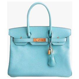 Hermès-Birkin 30-Light blue