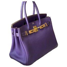Hermès-HERMES BIRKIN 30 Iris Togo GHW-Purple