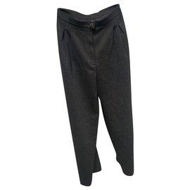 Chanel-Pants, leggings-Brown