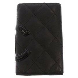 Chanel-Chanel Black Cambon Ligne Leather Key Holder-Black