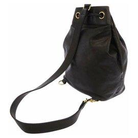 Chanel-Chanel Black CC Lambskin Leather Backpack-Black
