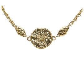 Chanel-Chanel Gold CC Matelasse Necklace-Golden