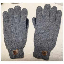 Timberland-Wool and leather gloves-Grey