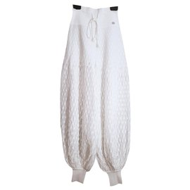 Chanel-new Dubai harem pants-White