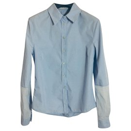 Acne-Light blue cotton shirt-Light blue