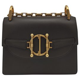Dior-Direction bag by Christian in brown leather-Brown