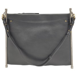 Chloé-Roy bag by Chloe in black leather-Black
