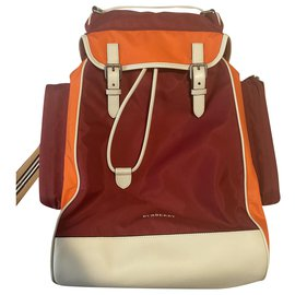 Burberry-Bags Briefcases-White,Red,Orange