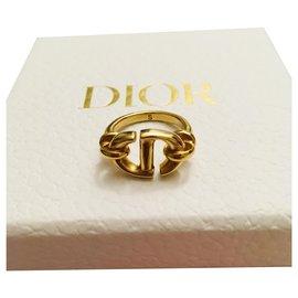 Dior-Bague Dior CD Navy en taille S-Bijouterie dorée