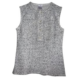 Chanel-Tops tweed-White