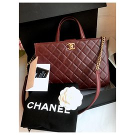 Chanel-26-series Burgundy Tote Bag-Other
