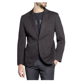 Karl Lagerfeld-LAGERFELD NEW MEN'S BLACK BLAZER-Black