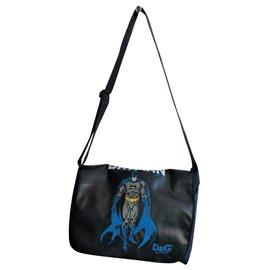 Dolce & Gabbana-DOLCE & GABBANA BATMAN BAG-Black,Navy blue