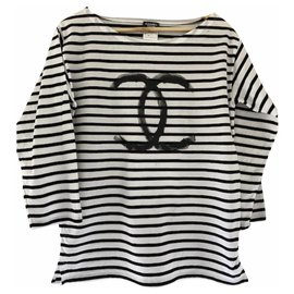 Chanel-Chanel uniform sailor shirt-White