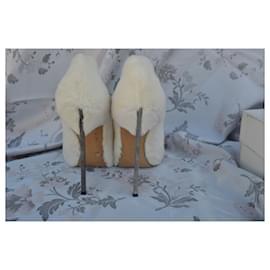 Casadei-casadei blade in fur-White
