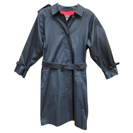 Burberry-womens Burberry vintage t trench coat 38-Navy blue