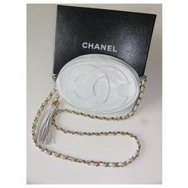 Chanel-Chanel Vintage bag in lambskin-White