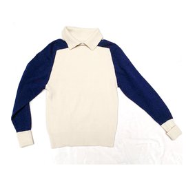 Chanel-Two-tone Scottish cashmere sweater-Eggshell