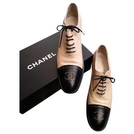 Chanel-Richelieu derbies-Beige
