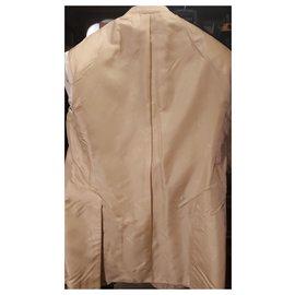 Brioni-BRIONI / CHAMPAGNE CHECKED JACKET 100% Pure cashmere-Sand