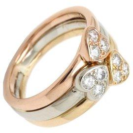 Van Cleef & Arpels-Van Cleef & Arpels Bague en or avec diamants Trinity Hearts-Multicolore