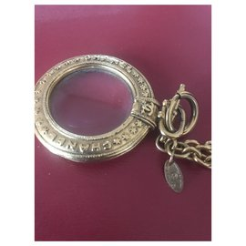 Chanel-Vintage Chanel magnifying necklace-Golden