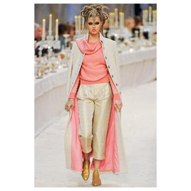 Chanel-Runway sweater with scarf-Cream