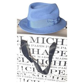Maison Michel-Beautiful new Maison Michel hat-Light blue