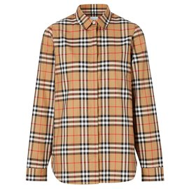Burberry-BURBERRY Vintage Check Cotton Oversized Shirt-Multiple colors