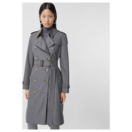 Burberry-BURBERRY The Long Kensington Heritage Trench Coat-Grey