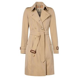 Burberry-BURBERRY The Mid-length Chelsea Heritage Trench Coat-Beige