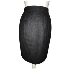 Chanel-Gray skirt by Chanel Boutique-Dark grey