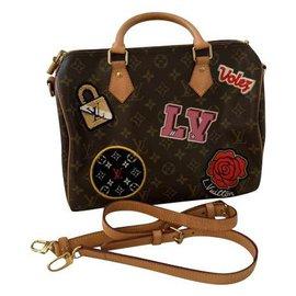 Louis Vuitton-Sac Speedy 30cm Louis Vuitton édition limitée-Multicolore