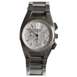 Bulgari-Bulgari Ergon Chronograph-Silvery
