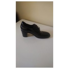 Free Lance-Patent leather brogue-Black