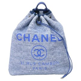 Chanel-Chanel Drawstring-Blue