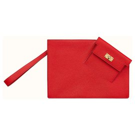 Hermès-Kelly Pocket To Go small bag-Red