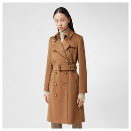 Burberry-BURBERRY Cashmere Trench Coat-Brown