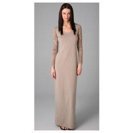 Acne-Extreme burnout dress Acne-Beige