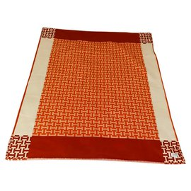 Hermès-Avalon Terre d'H Throw-Orange