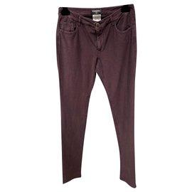 Chanel-Pants, leggings-Purple