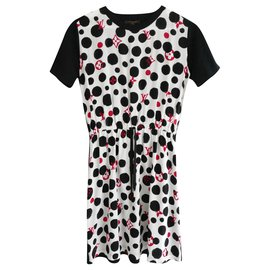 Louis Vuitton-Ltd Ed Polka Dot Monogram Dress-Black