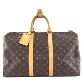 Louis Vuitton-Louis Vuitton Keepall 45 Toile monogramme-Marron