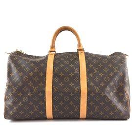 Louis Vuitton-Louis Vuitton Keepall 50 Toile monogramme-Marron