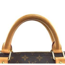 Louis Vuitton-Louis Vuitton Keepall 60 Toile Monogram Bandoulière-Marron