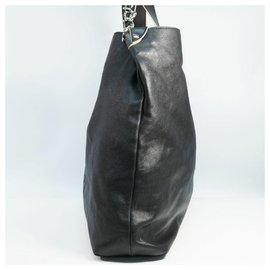 Chanel-CHANEL Deca coco 2WAY shoulder Womens tote bag black-Black