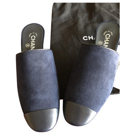 Chanel-Chanel CC heel mules-Black
