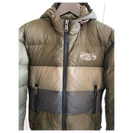 Autre Marque-REPLAY REAL MEN'S DOWN JACKET-Green