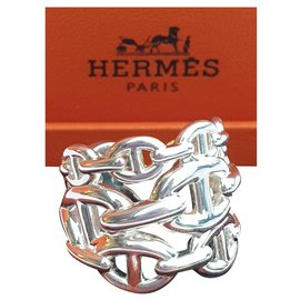 Hermès-Chaine d'ancre Enchainee-Silvery